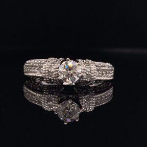 1 CTW Round Diamond Engagement Ring