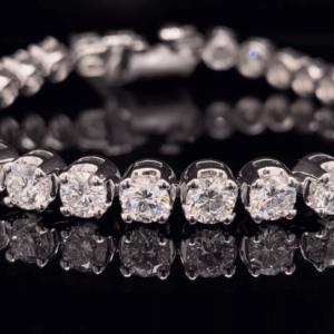 #TLG1001 14K White Gold 11.18 CTW Round Brilliant Lab Grown Tennis Bracelet G SI1
