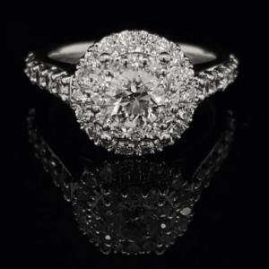 #STOCKMARCH1-972000 14K WHITE GOLD ROUND BRILLIANT COLOR H CLARITY SI2 1.71CTW