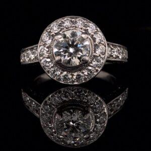 #1480-972750 14K 0.68ct. White & Yellow Gold 1.63CTW Halo Engagement Ring I VS2 x2 Bands|#1480 14K 0.68ct. White & Yellow Gold 1.63CTW Halo Engagement Ring I VS2 x2 Bands|#1480 14K 0.68ct. White & Yellow Gold 1.63CTW Halo Engagement Ring I VS2 x2 Bands