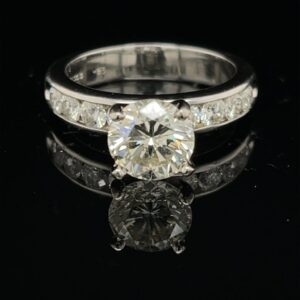 #3060-976000 2.15ct. 14K White Gold Engagement Ring Color H Clarity DI1