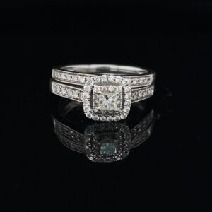 #1407A-97800 0.5ct. Halo 14K White Gold Engagement Ring